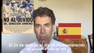 Alexandre Del Valle habla del genocido armenio de 1915 (Spanish and english version)