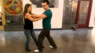 Basic Blues Dance Lesson; Basic Step, Slow Drag, Solo Movements I. Las Vegas, Sept. 23, 2014.
