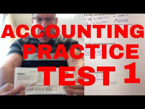 ACCOUNTING PRACTICE TEST / BALANCE SHEET / JOURNAL ...