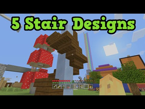 5 UNIQUE Stairs for Minecraft Builds