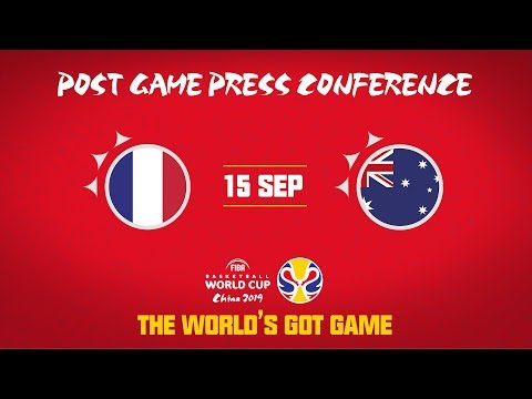 France v Australia - Press Conference - FIBA Basketball World Cup