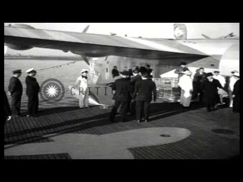 US Ambassador To UK, Joseph Kennedy, Arrives Aboard Pan American Clipper From Eng...HD Stock Footage Mp3