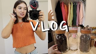 DAYS IN MY LIFE VLOG | Outfits, organizing the pantry, skincare routine, room updates!