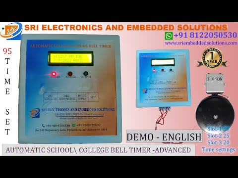 Automatic College and School Bell Timer - Advanced Model