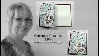 Christmas Thank You Z Fold Card