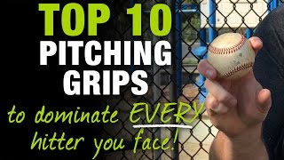 Top 10 Pitching Grips to Dominate EVERY Hitter You Face!  [Top 10 Thursday Ep.5]