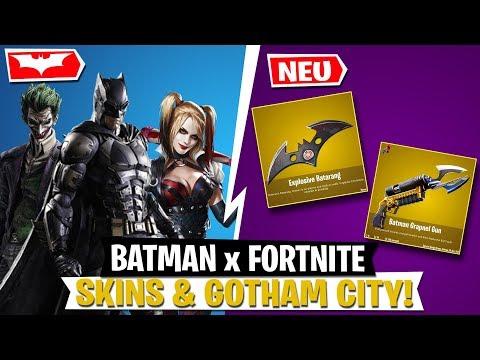 BATMAN X FORTNITE! Skins, Items & Gotham City LEAK   Fortnite Deutsch
