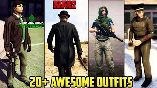 GTA Online 20+ AWESOME OUTFITS! (Red Dead Redemption 2, The Mob Collection, Police Outfit & MORE)