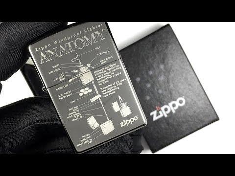 150 Anatomy Зажигалка Zippo Guarantee, Black Ice (custom)