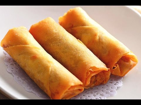How to Make Vegetable Spring Rolls Recipe 春卷, CiCi Li