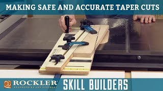 How to Make Safe Taper Cuts Using a Table Saw | Rockler Skill Builders