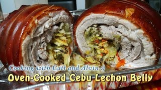 Homemade Oven-Cooked Cebu Lechon Belly (w/ Eng Subtitle) | HungreeCatt Cooks