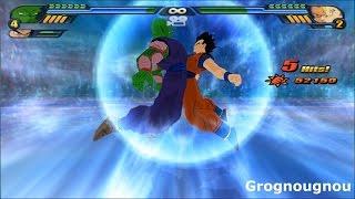 Fusion Piccolo and Goku with the potaras Vs Kid Buu (Dragon Ball Z