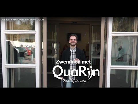 Carrousel video: Vlog Koen Brouwer zwemt met Korsakov cliënten van QuaRijn