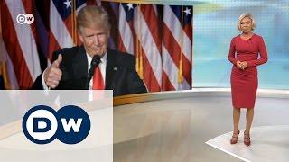 """""""Случилось немыслимое"""": как Европа отреагировала на победу Трампа - DW Новости (09.11.2016)"""
