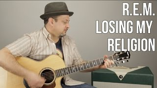 """How To Play """"Losing My Religion"""" By R.E.M. On Guitar   Super Easy Acoustic"""