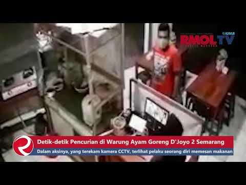 Detik detik Pencurian di Warung Ayam Goreng D\'Joyo 2 Semarang