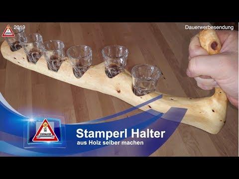 Stamperl / Schnapsglas Halter selber machen