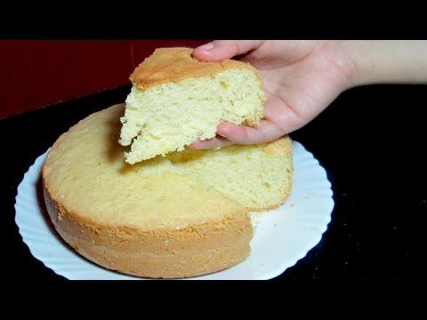 Video Sponge Cake without Oven - Basic Soft Sponge Cake - Pressure Cooker Sponge Cake Recipe