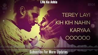 Daryaa | Lyrics MP3 Song | Manmarziyaan | Ammy Virk & Shahid Mallya, Amit Trivedi