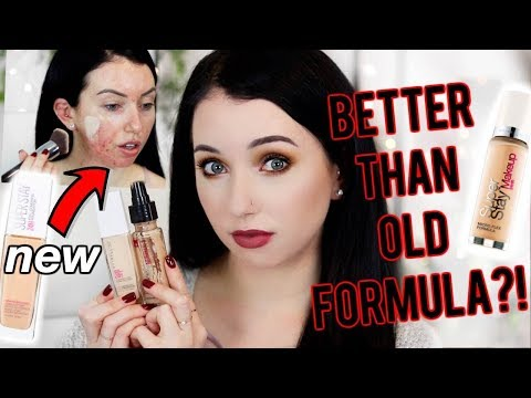 IT'S BACK…NEW Maybelline SuperStay Foundation {First Impression Review & Demo!} Acne/Fair Skin