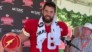 Chiefs Training Camp 2019: Laurent Duvernay Tardif Speaks To The Media