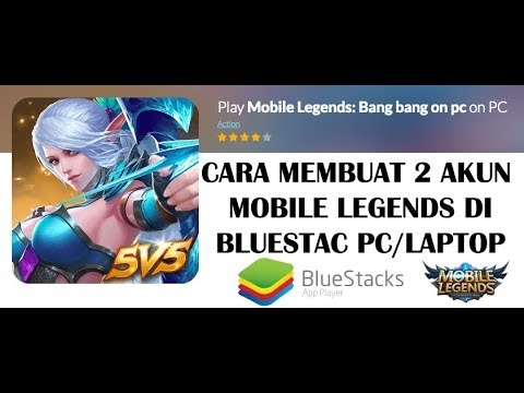 Cara Membuat Dua Akun Mobile Legends Di Bluestack PC/ Laptop Mp3