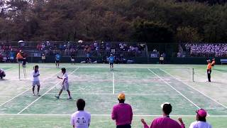 ソフトテニス国体2012成年男子準決勝神奈川県ー奈良県2小林・香川ー小栗・榎