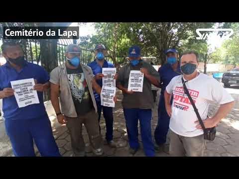 Sindsep e trabalhadores dos cemitérios da Lapa, São Paulo e do Araçá exigem vacina já para todos!