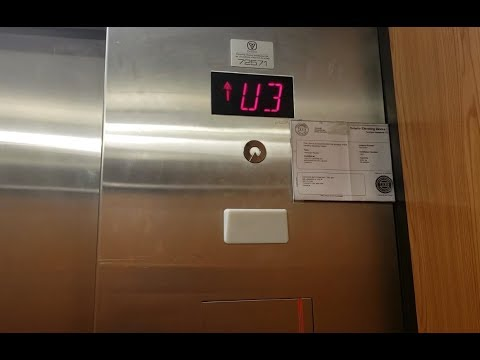 Nice Motor!! Schindler MT 300A Hydraulic Elevator at Hudson's Bay, Square One - Mississauga ON