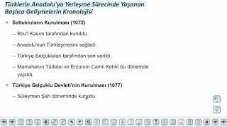 Eğitim Vadisi 10.Sınıf Tarih 1.Föy Oğuz Göçleri ve Anadolu Konu Anlatım Videoları