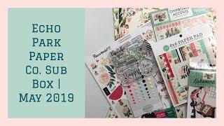 Echo Park Paper Co. Sub Box   May 2019   Flower Market Carta Bella   Unboxing