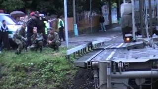 preview picture of video 'Prievidza - Armáda postavila dočasný most - 31.8.2010'