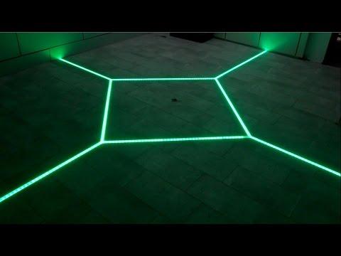 Chế đèn LED cho nền nhà đẹp lung linh