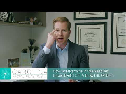 How To Tell If You Need A Upper Eyelid Lift, A Brow Lift, Or Both | Jonathan Kulbersh MD