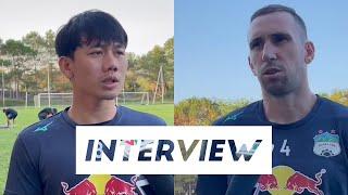 Phỏng vấn | Minh Vương và Memovic trả lời báo chí trước trận Becamex Bình Dương | HAGL Media