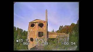 FPV drone, abandoned cement plant skyzone DVR