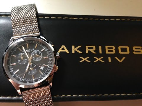 Akribos XXIV AK625SSB Men's Watch Unboxing & Review
