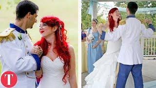 10 Real Life DISNEY WEDDINGS