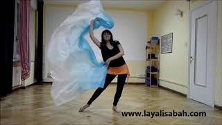 Danza del ventre online - Danziamo attraverso il sentire, coreografia velo.