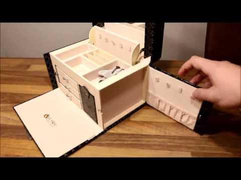Vlando Schmuckkasten,  Schöner Koffer mit vielen Fächern