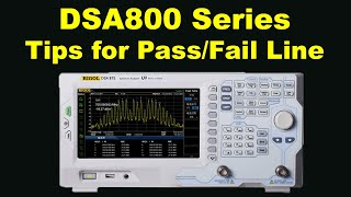 EMC With DSA815 DSA875 Tips For Pass/Fail Line And Menus To Help EMI Pre-compliance