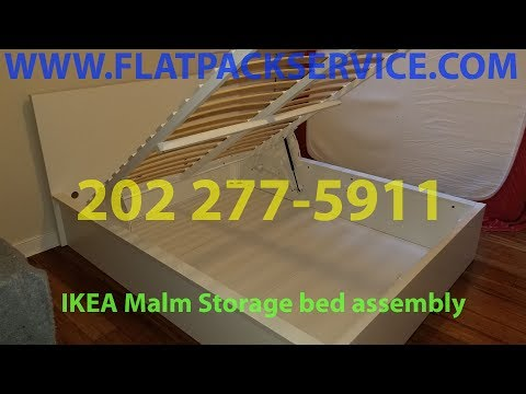 IKEA MALM Storage bed Assembly service in DC VA MD by Flatpack Assembly 202 277-5911