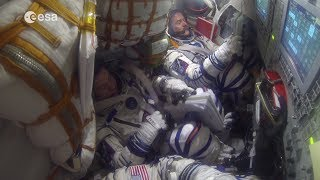 Space Ecards, How does an astronaut return to Earth from the..