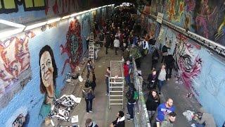 150 Female Graffiti Artists At Femme Fierce In The Leake Tunnel, Waterloo, London - 8th March 2015