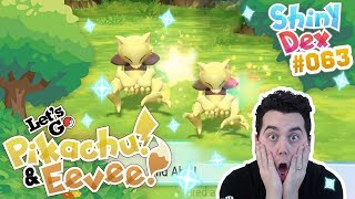 INSANE! TWO SHINY ABRA!! in POKEMON LETS GO PIKACHU AND EEVEE!