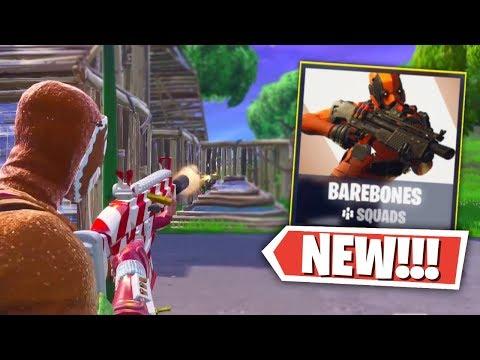 *NEW* BAREBONES LTM Gameplay in Fortnite: Battle Royale (No Map or Storm Warning!)