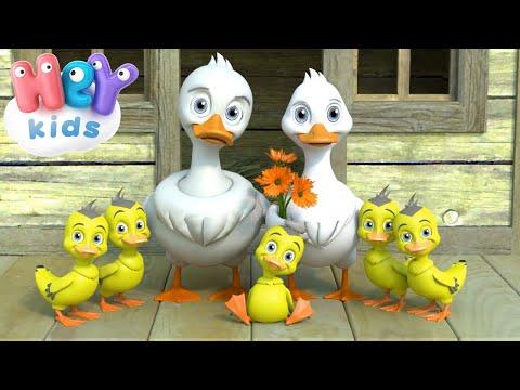 Пять Маленьких Утят - Детские Песни - Считалочка для детей видео