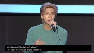 Namjoon talks about Shadow and Ego on BTS Global Press Conference MOTS : 7