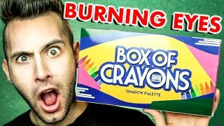 NO BULLSH*T Box Of Crayons Palette Review | BURNED MY EYES!!!! | PopLuxe